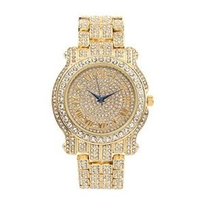 COPY - Bling-ed Out Hip Hop Royalty Mens Watch - …